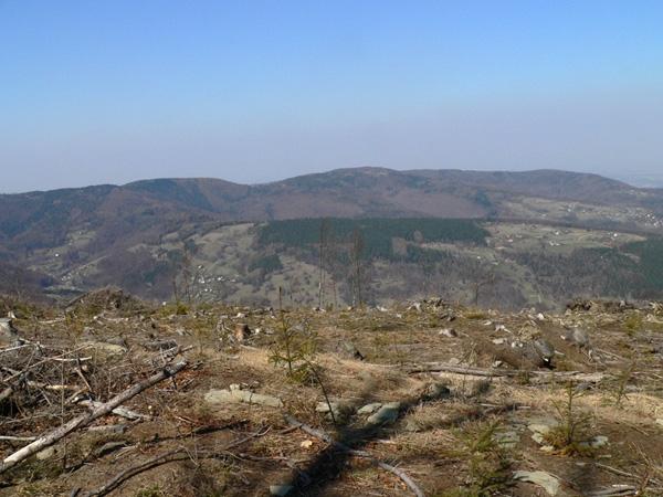 Widok z Czupla na pasmo Hrobaczej Łąki