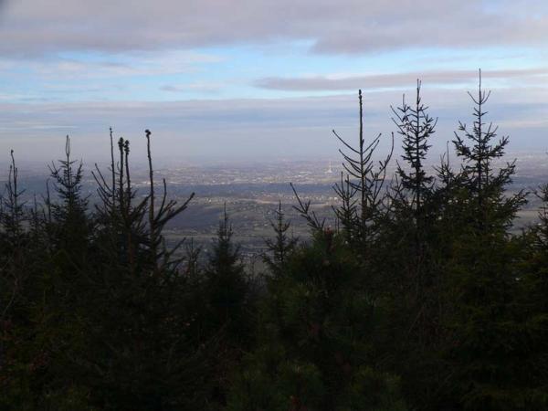 Widoki na północną stronę z platformy widokowej